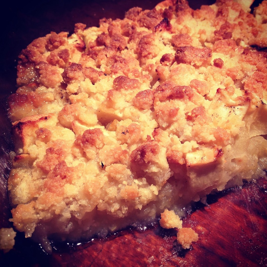 Le traditionnel crumble aux pommes
