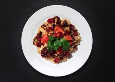 Risotto Chorizo & champignons