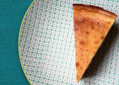 Cheesecake généreux à la vanille