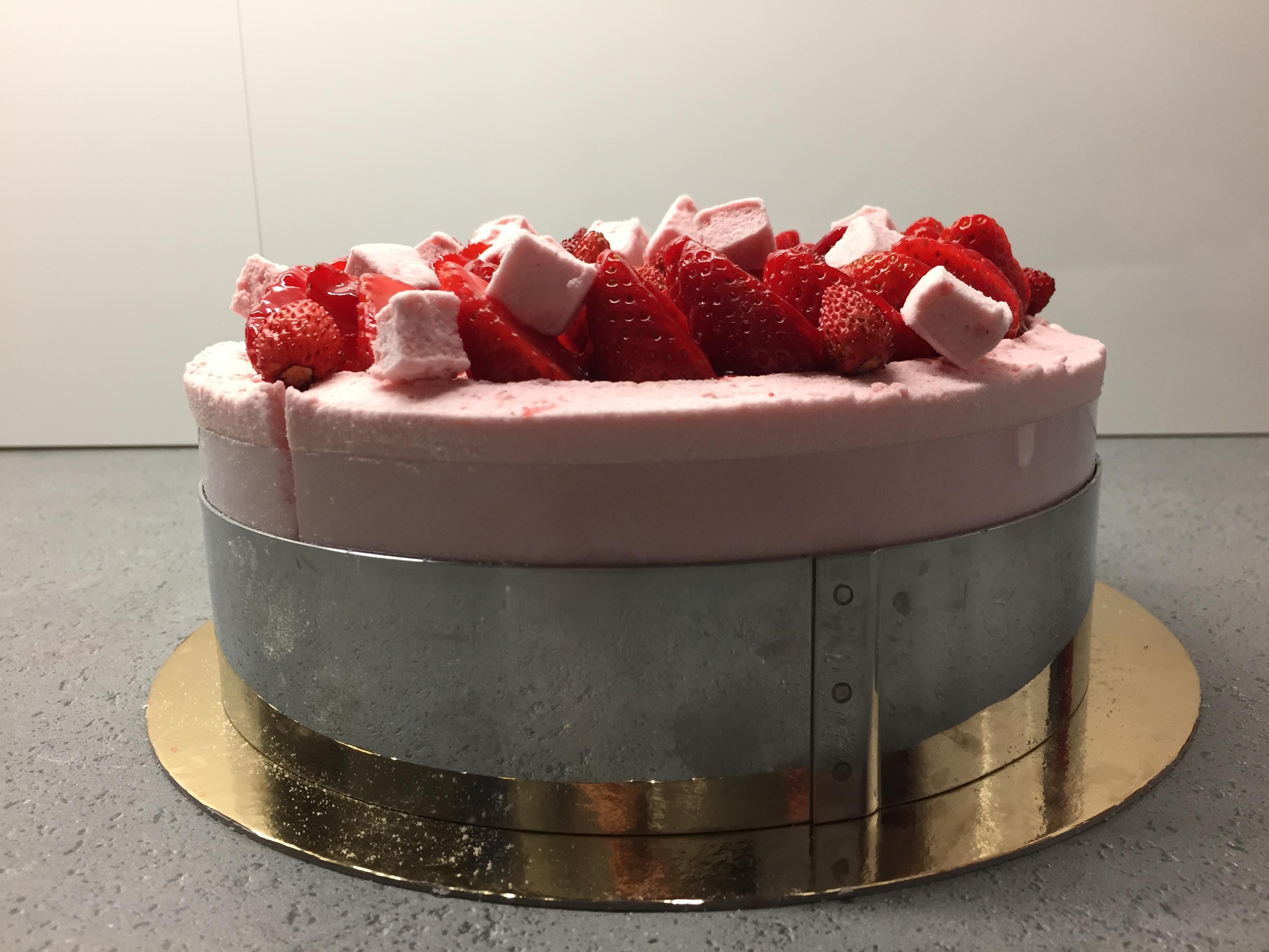 Charlotte fraise guimauve