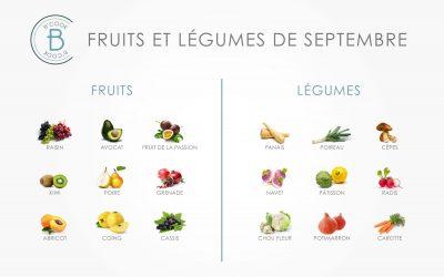 Les fruits et légumes du mois de septembre