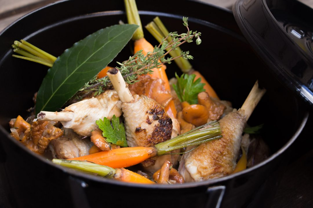 Fricassée de volaille & légumes de saison