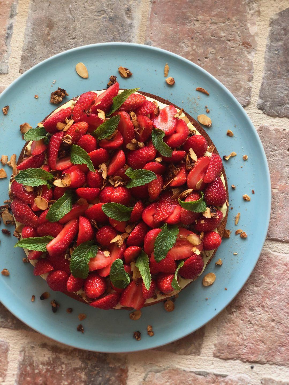 Tarte aux fraises & pistache