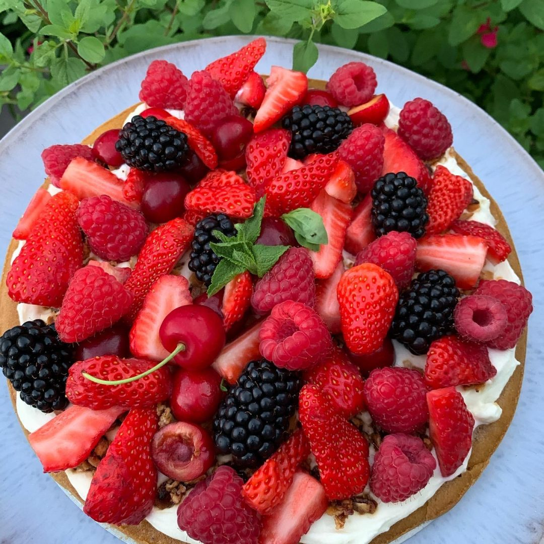 Tarte aux fruits rouges & basilic