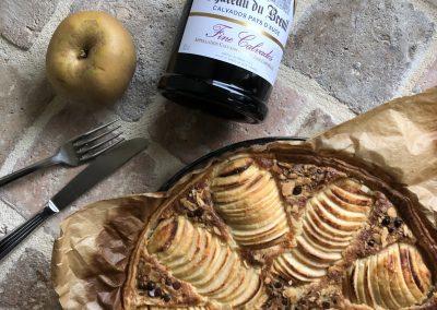 Tarte amandine aux pommes façon Cyril Lignac